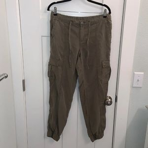Joe Fresh Green Cargo Pants Size 6